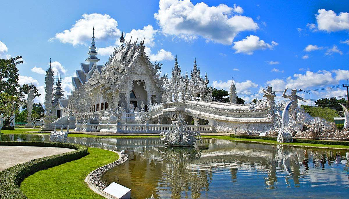 Wat Rong Khun, Biała Swiątynia w Chiang Rai.