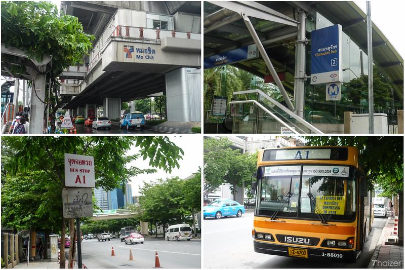 Autobus z Don Mueang do centrum Bangkoku