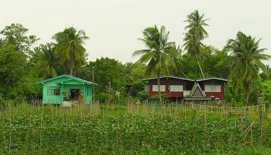 Koh Kret lokalne domy