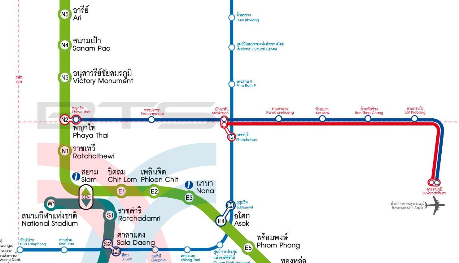 Linia Airport Link Bangkok.
