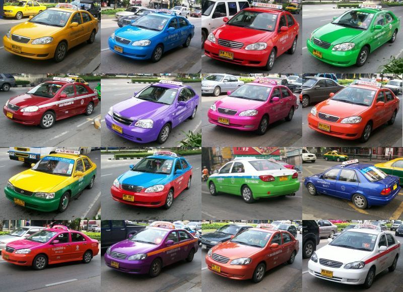 rodzaje taxi w Bangkoku