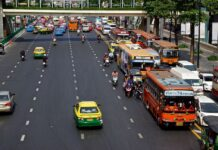 W bangkoku mamy duzo opcji transportu