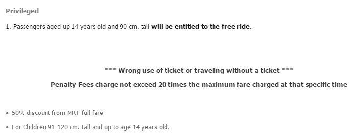 Polityka cenowa dla dzieci MRT w Bangkoku