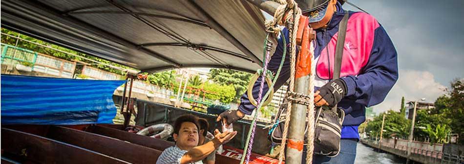 Bilety na łódź Sean Seab w Bangkoku kupowane są bezpośrednio na łodzi.