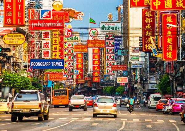 Lampiony w China Town Bangkok
