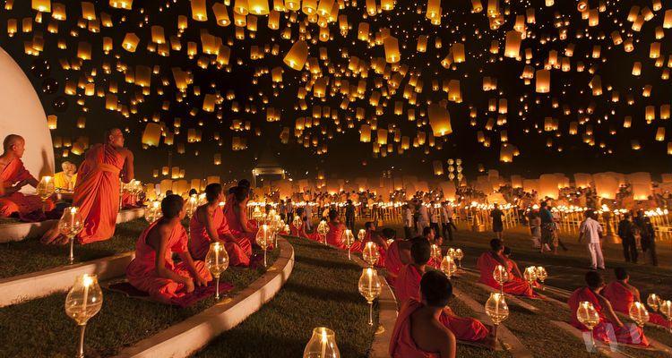 Festiwal Yi Peng w prowincji Chiang Mai.