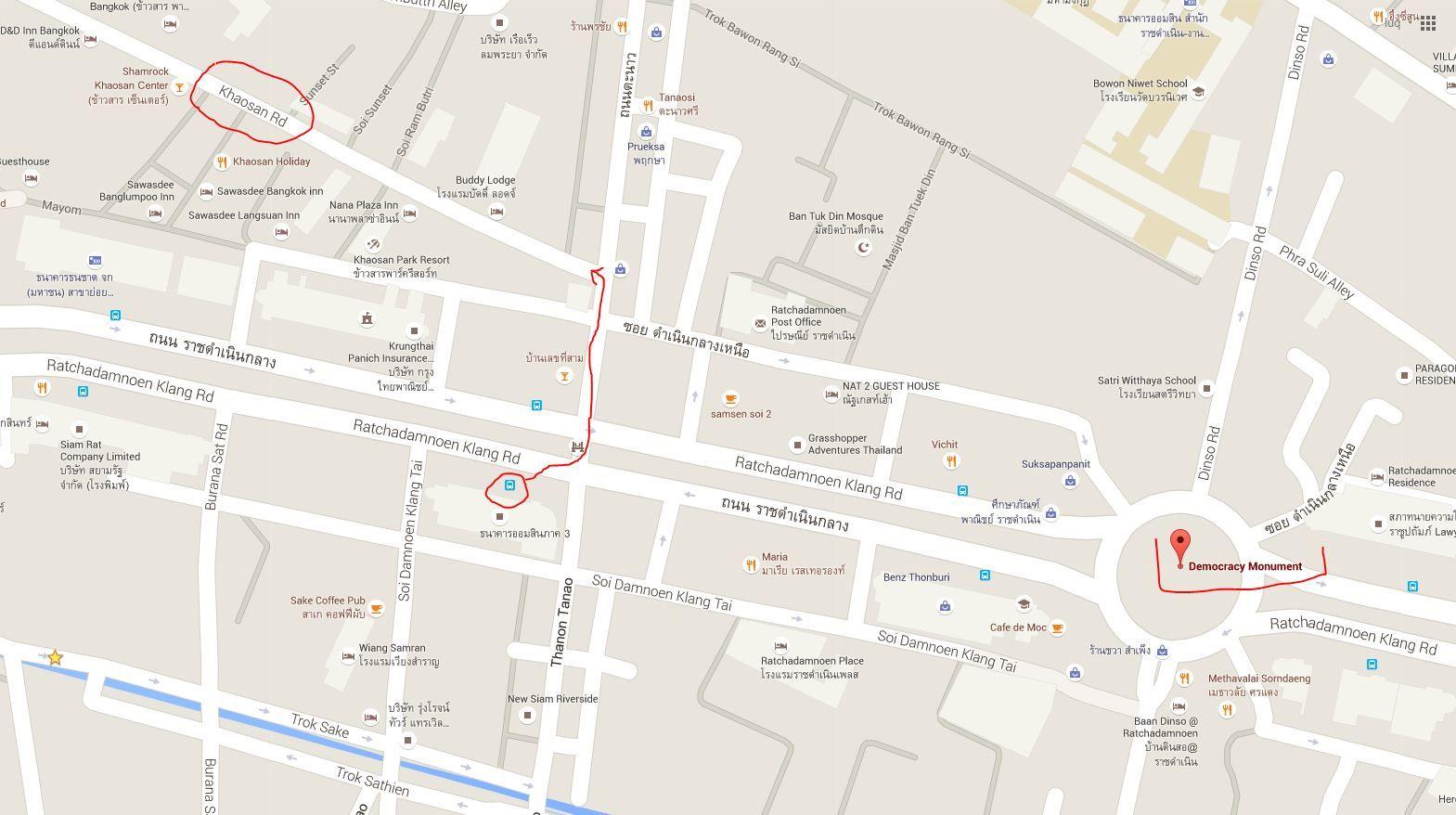 Na Khao San już zaledwie 300 metrów