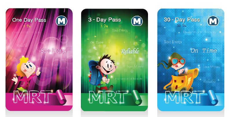 Karnety MRT Bangkok 1,3 i 30 dniowe.