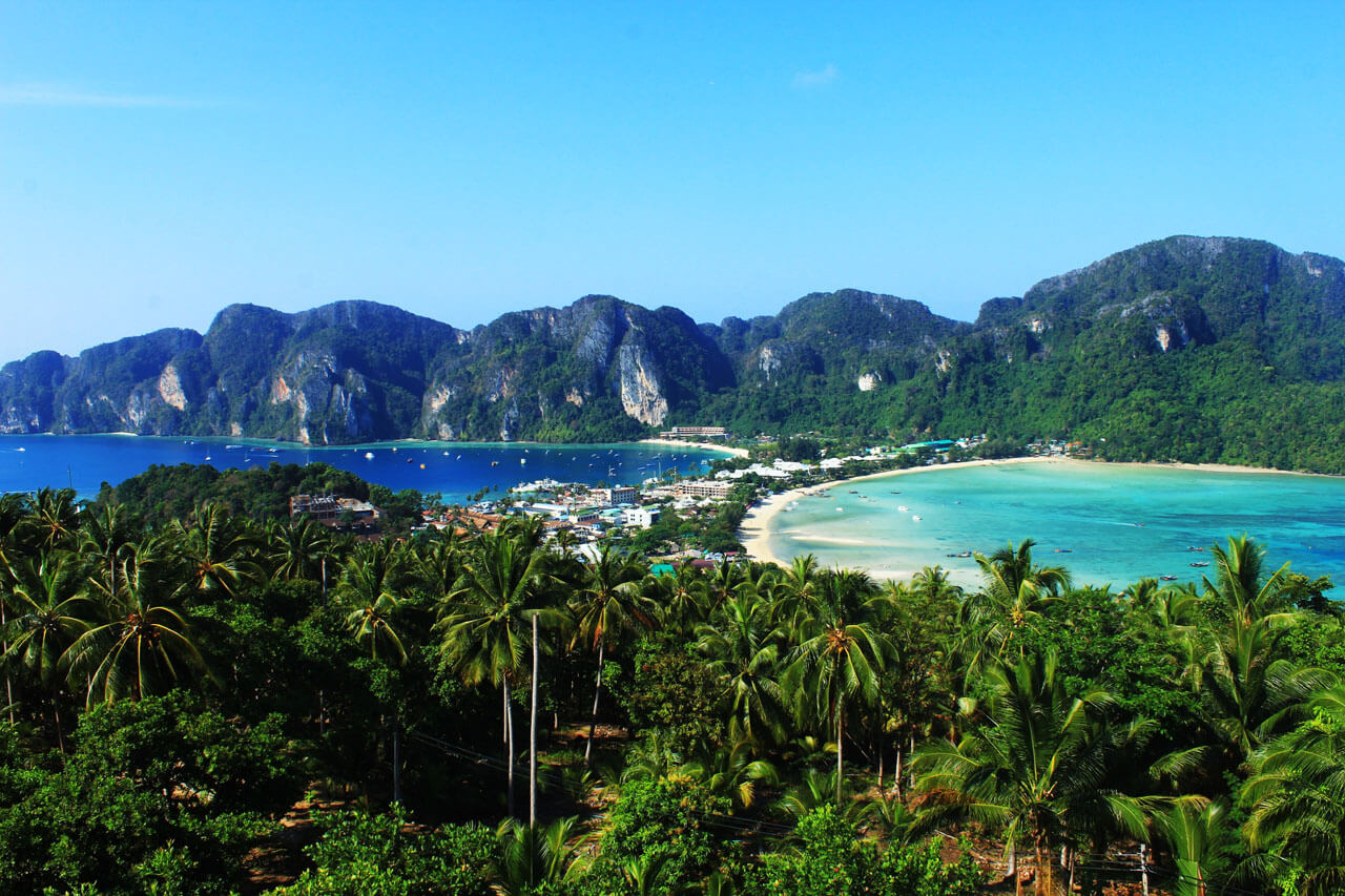 Punkt widokowy na Koh Phi Phi don, Krabi.