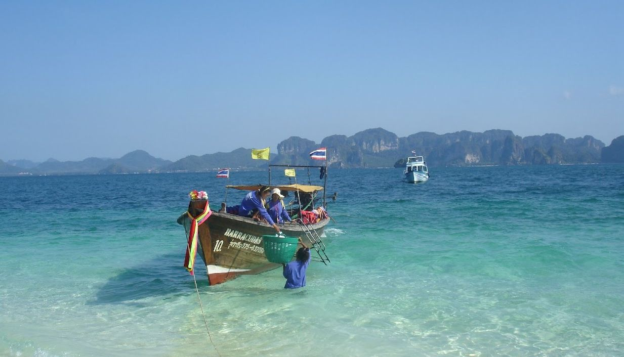 Widok z wyspy Koh Poda na Ao Nang w Krabi.