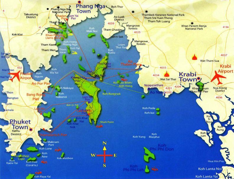 Połączenia promowe na wyspy Koh Yao Yai i Yao Noi.