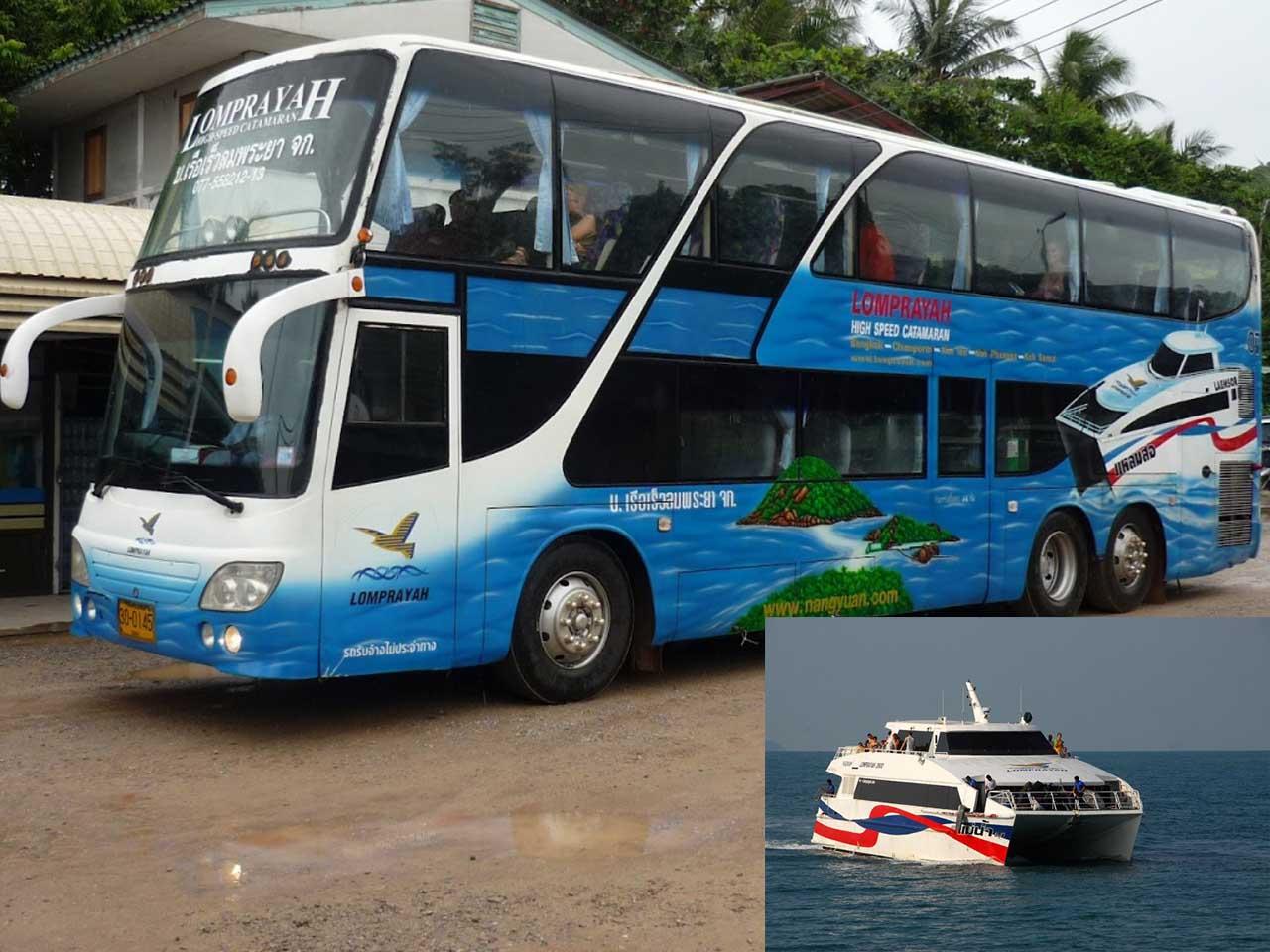 Lomprayah autobus i katamaran