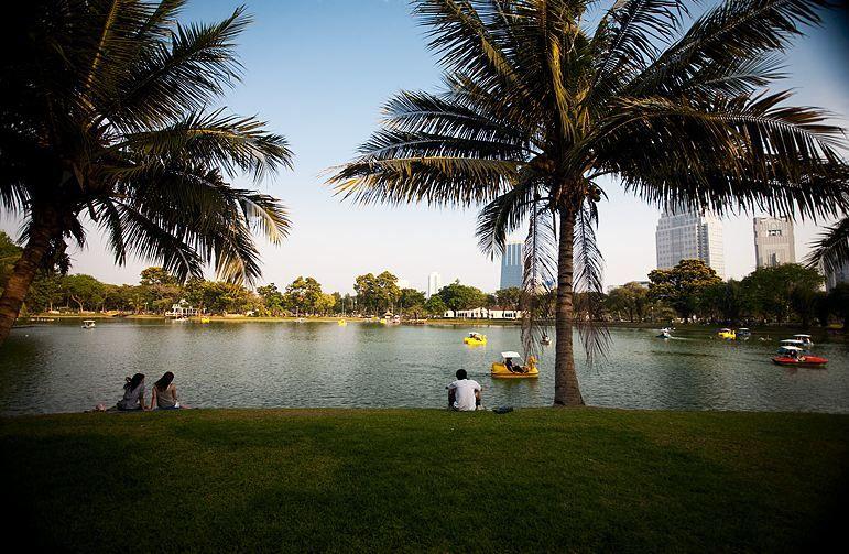 Lumphini Park jezioro