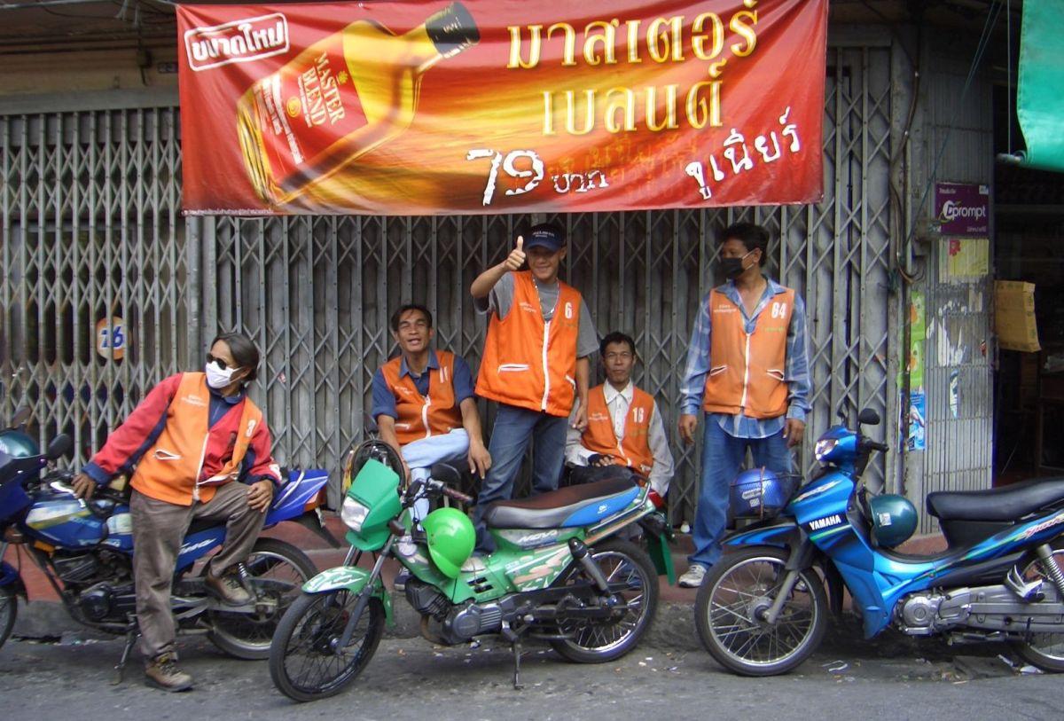 Posterunek Moto Taxi Bangkok.
