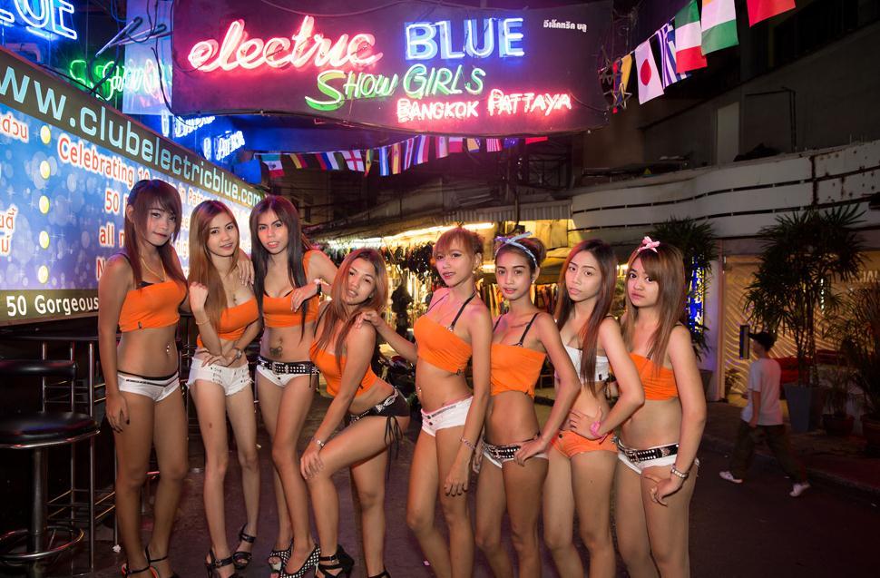 Tancerki z Electric Blue na Patpong Soi 2