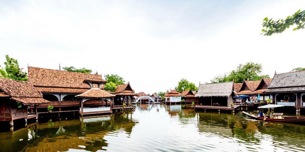 Pływający market w Muang Boran