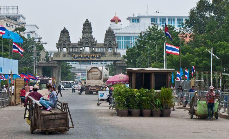 Przejście graniczne Tajlandia - Kambodża.