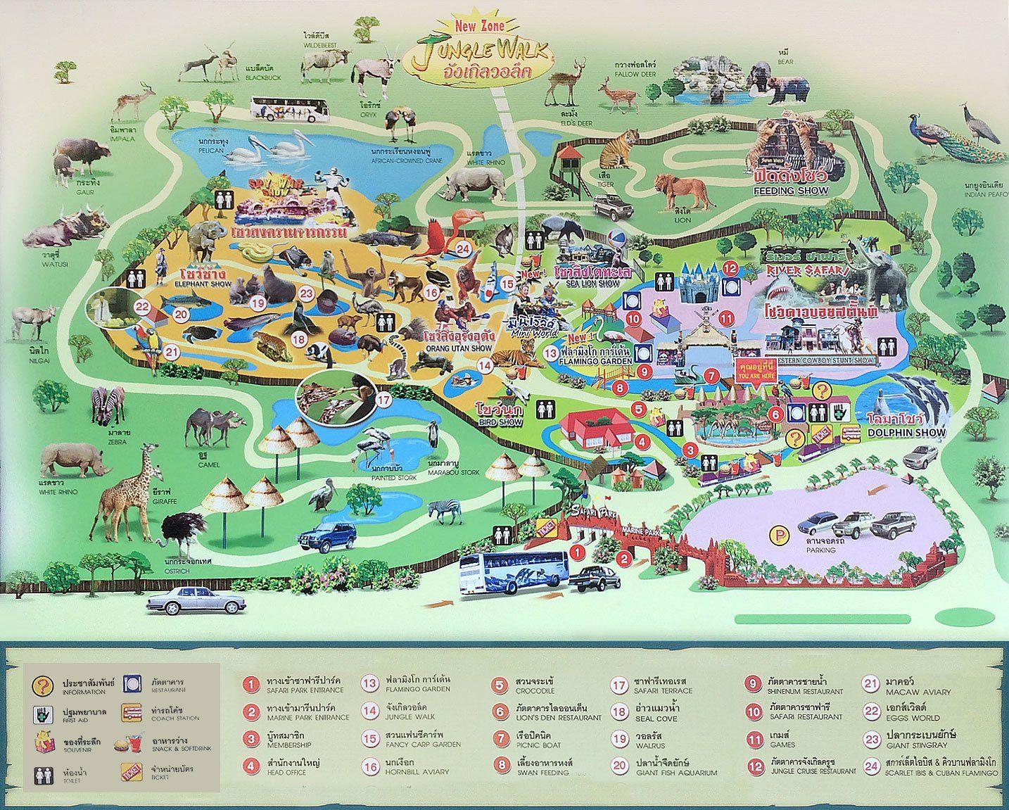 Mapa Safari World