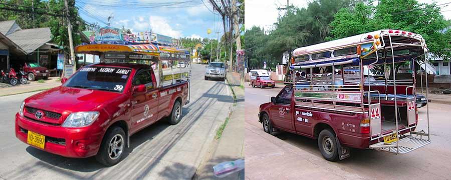 Songthew - miejski środek transportu na Koh Samui