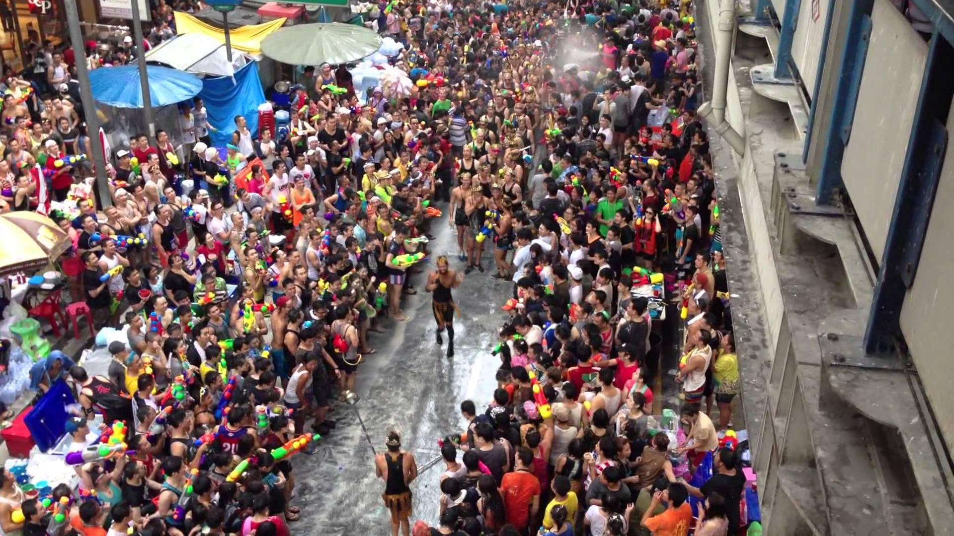 Songkran Tajski Nowy Rok.