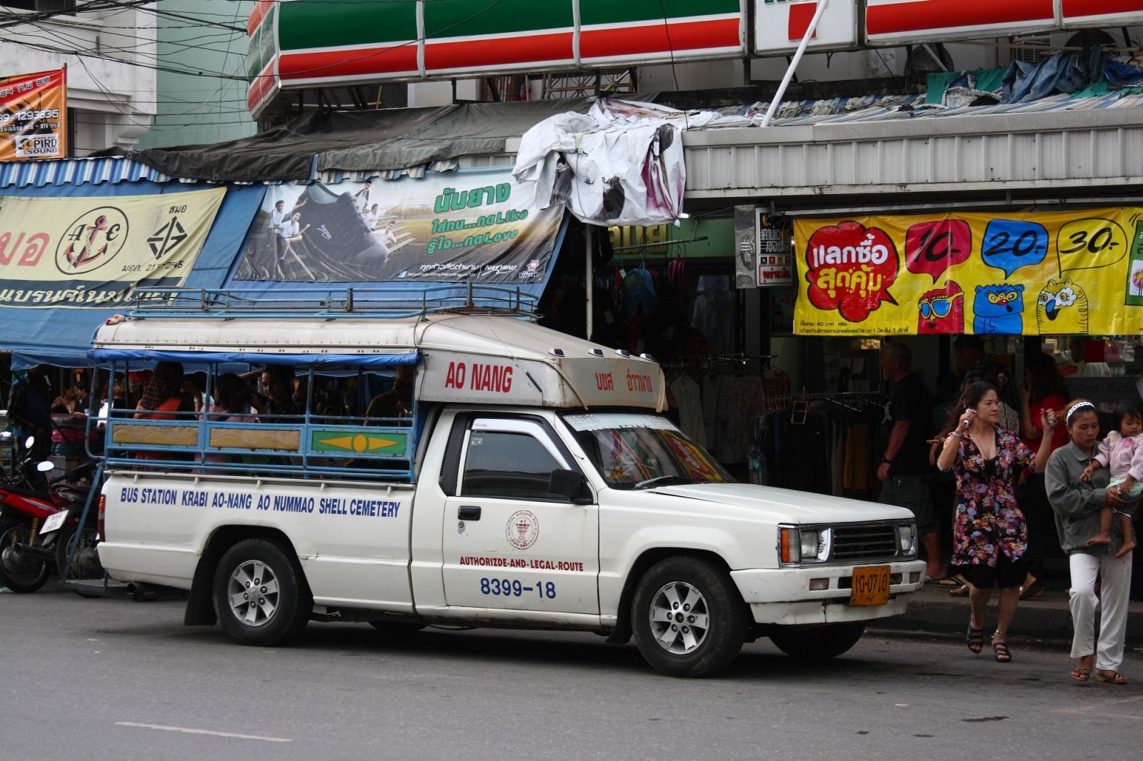 Transport w Krabi - Songthaew.