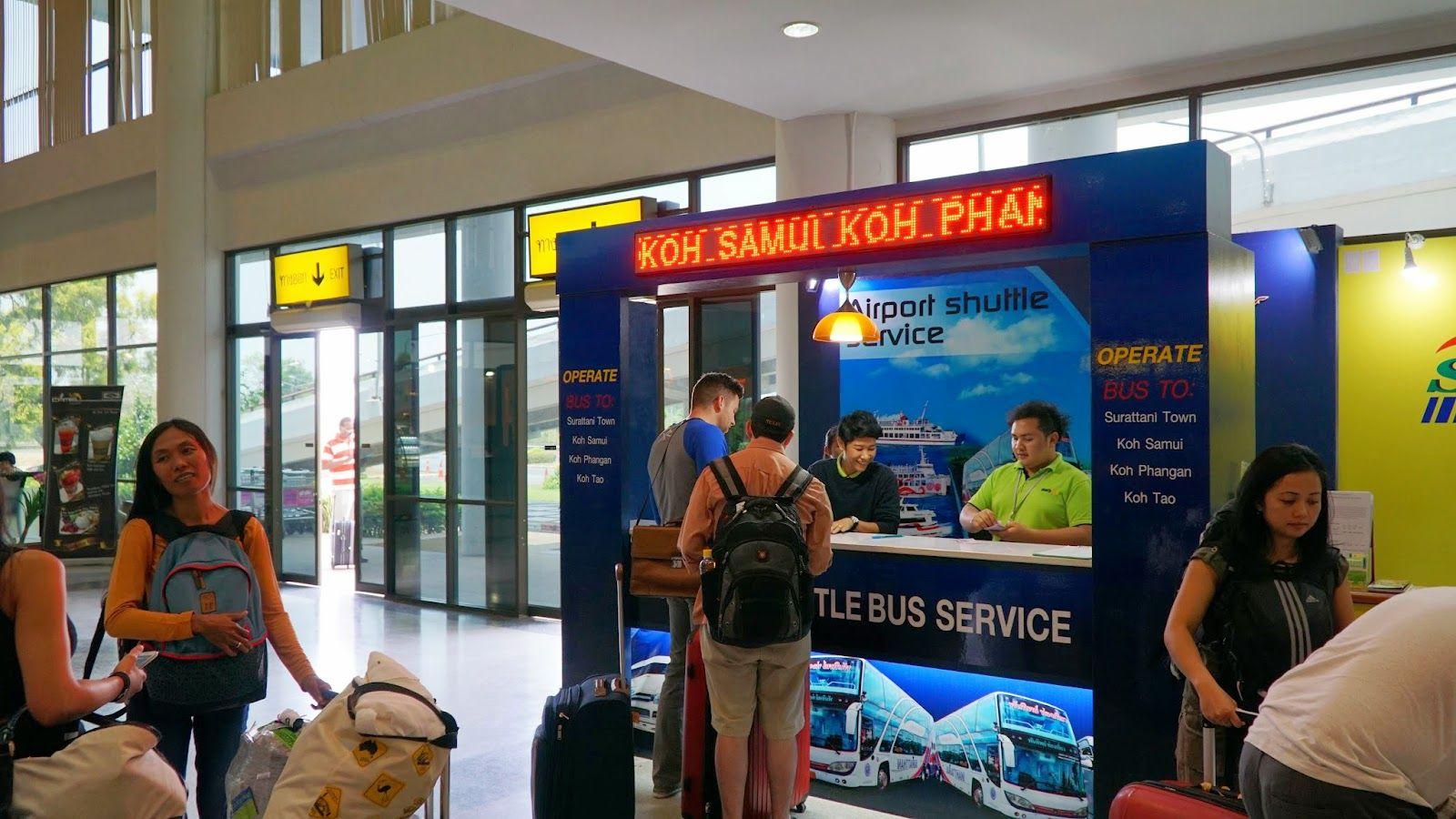 Kasa biletowa na lotnisku Surat Thani