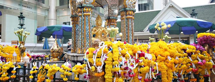 Statuetka Brahmy w Świątyni Erawan w Bangkoku