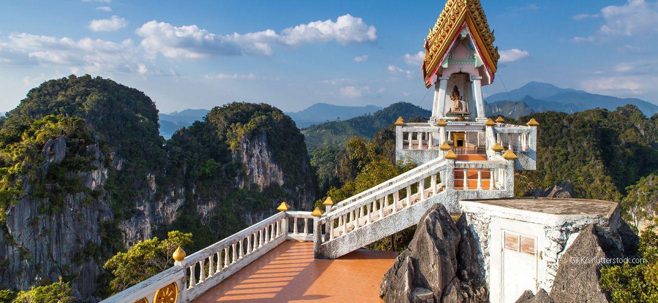 Druga strona świątyni na szczycie Wat Tham Suea, Krabi