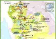 Mapa Tajlandii.