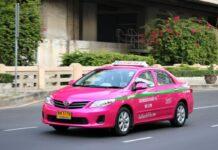 Typowa taksówka w Bangkoku.