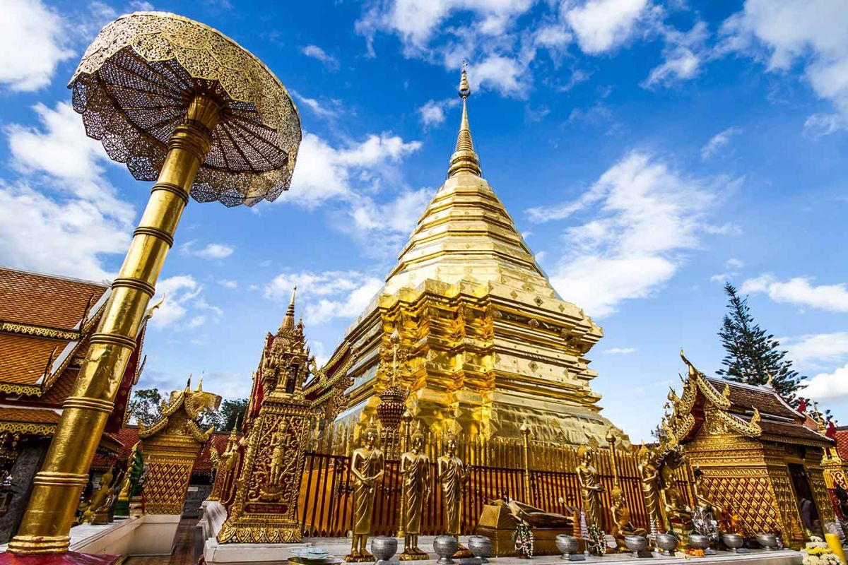Wat Doi Suthep w Chiang Mai.