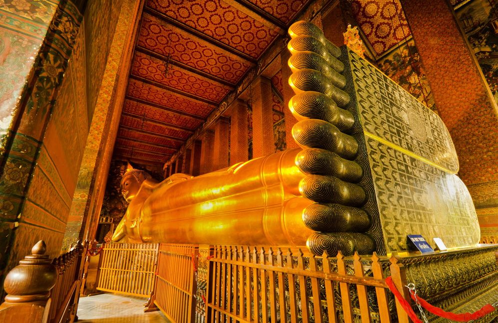 Wat Pho Leżący Budda w Bangkoku