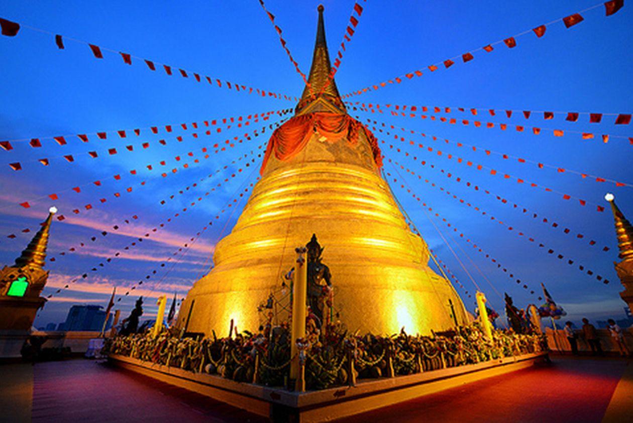 Chedi Wat Saket Złotej Góry
