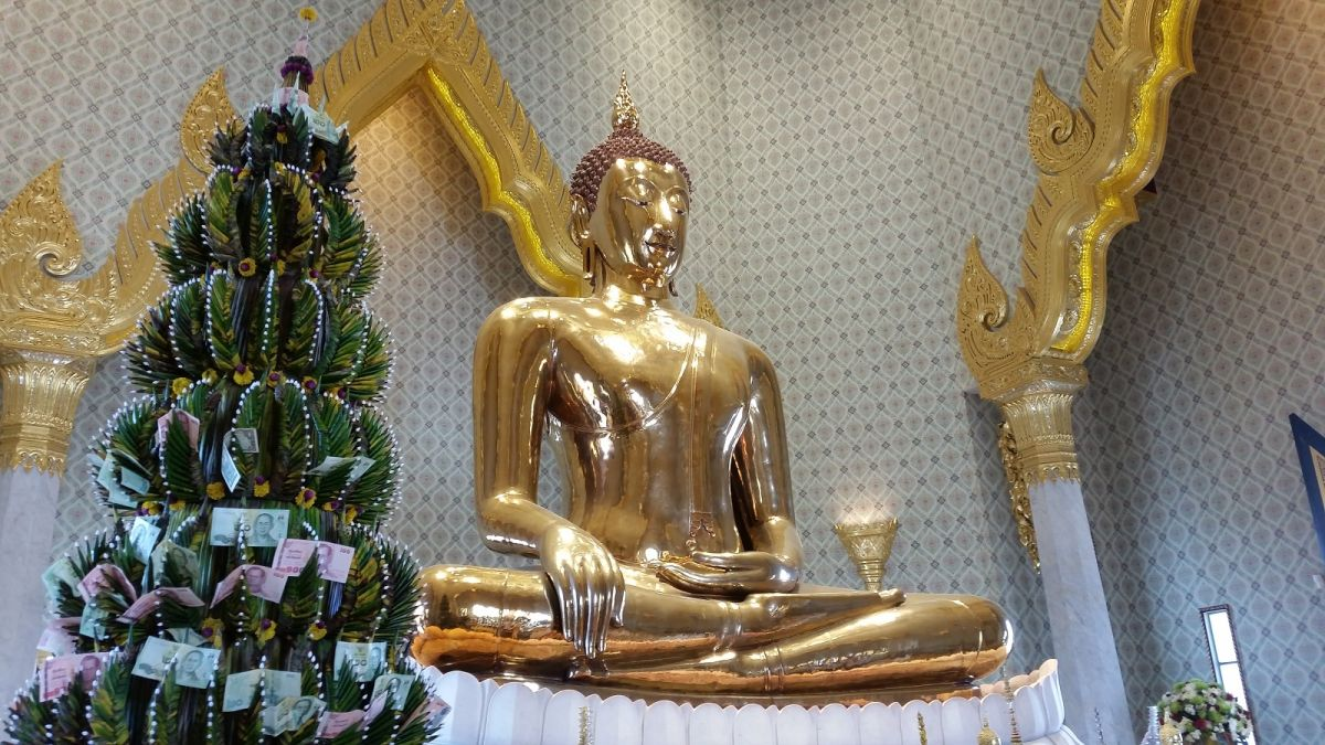 Złoty Budda Bangkok Wat Traimit