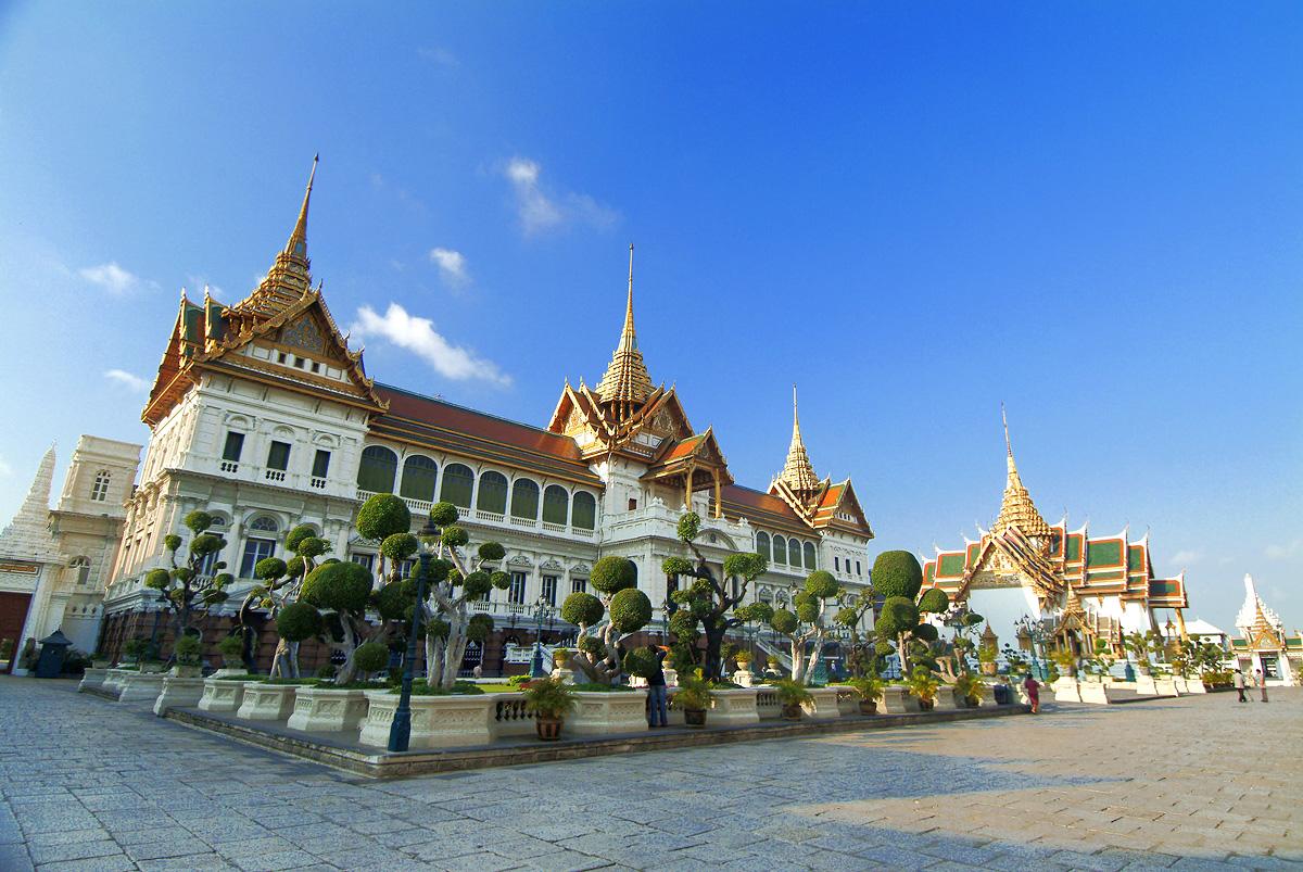Budynek Wielkiego Pałacu w Bangkoku